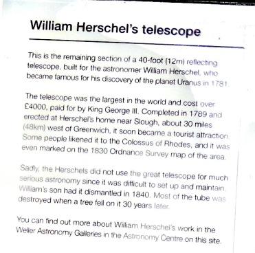7:3 R O telescope info